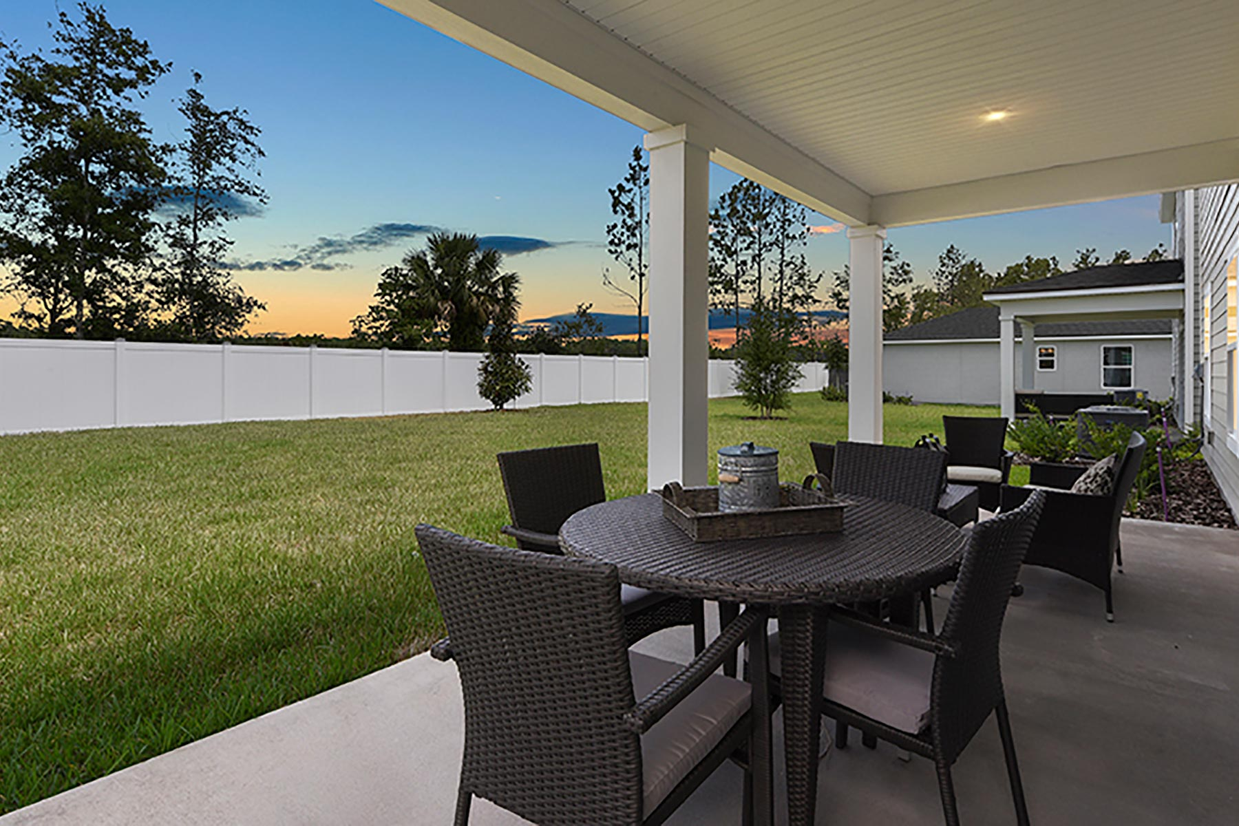Linden Plan Patio at Wells Creek in Jacksonville Florida by Mattamy Homes