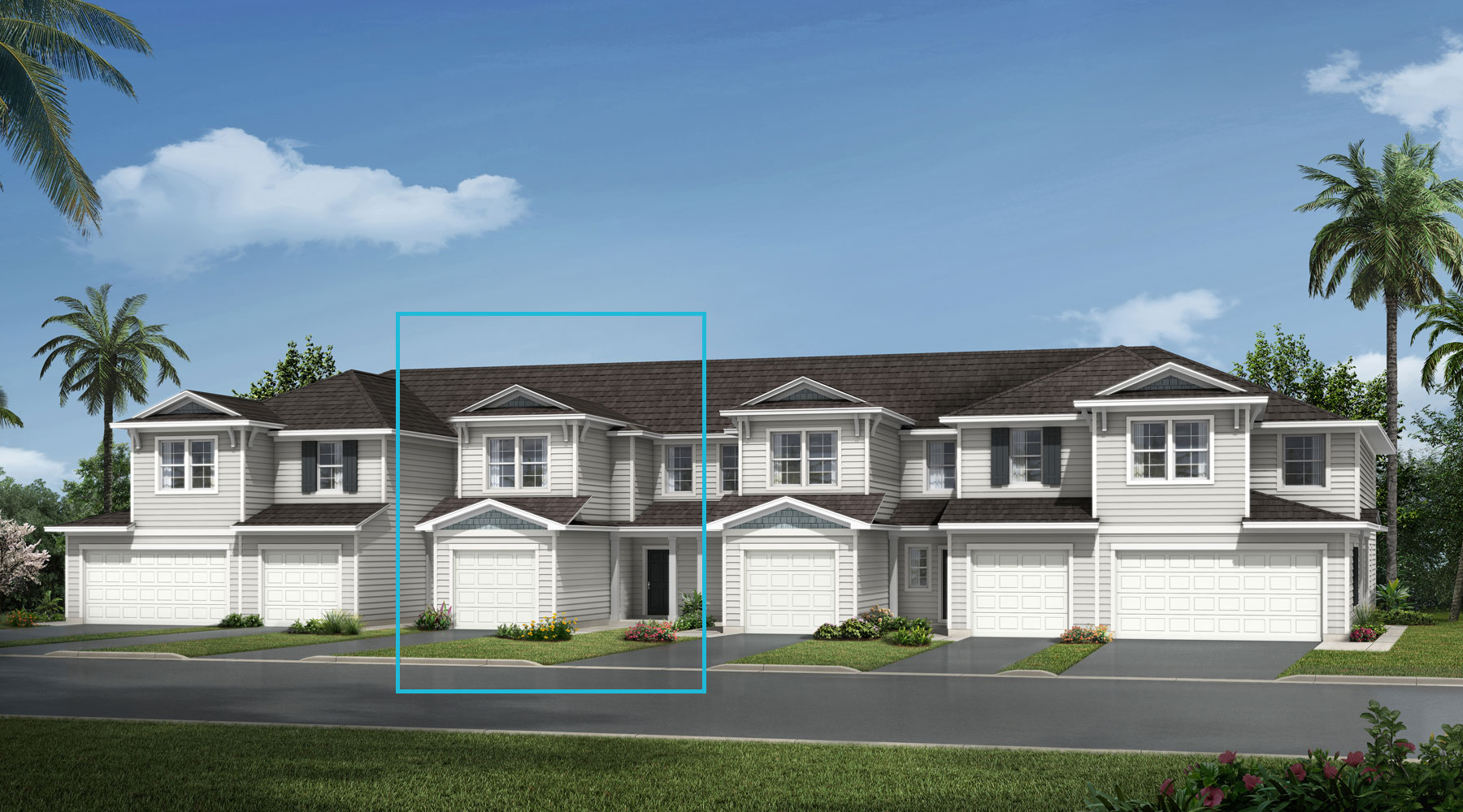 Oasis Plan TownHomes at Wells Creek in Jacksonville Florida by Mattamy Homes