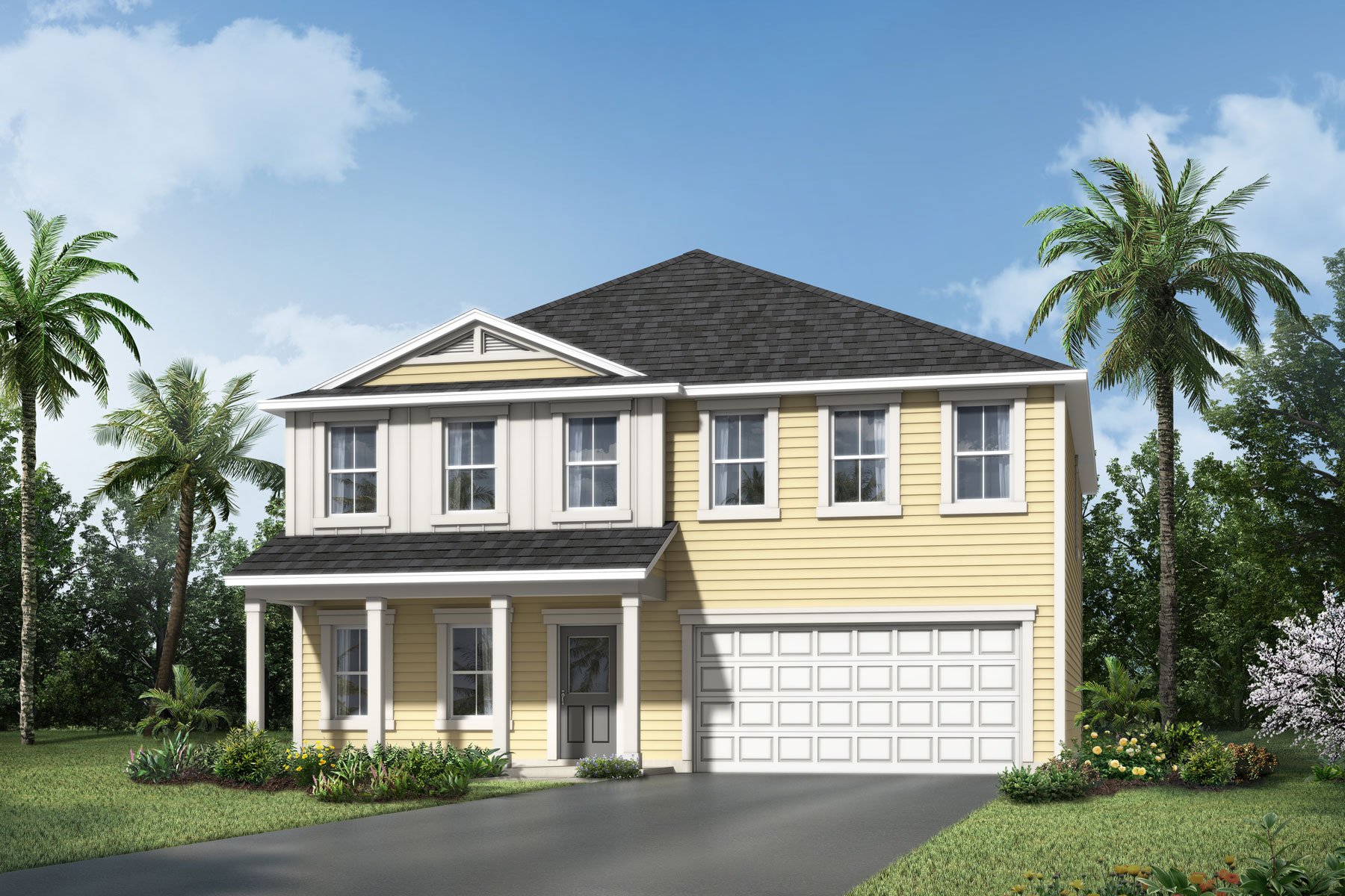 Poplar Plan Elevation Front at Wells Creek in Jacksonville Florida by Mattamy Homes