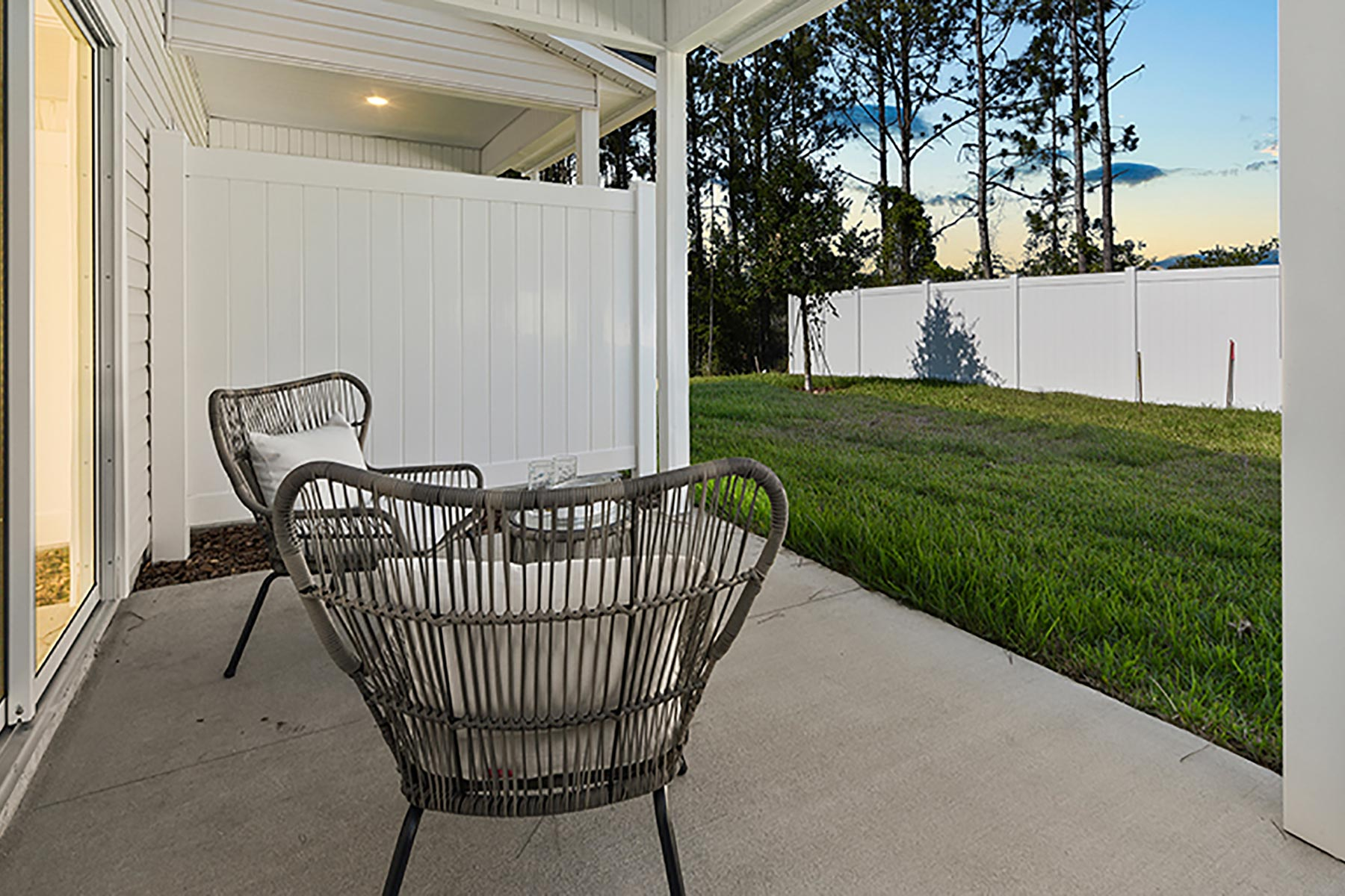 Retreat Plan Patio at Wells Creek in Jacksonville Florida by Mattamy Homes