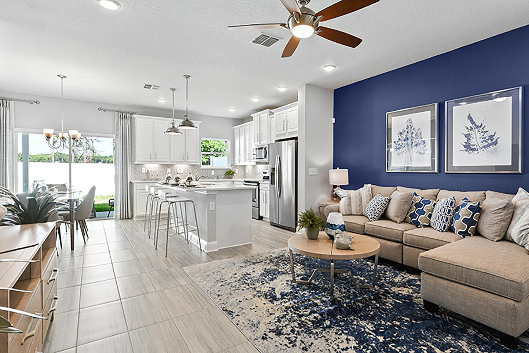 Retreat Plan Greatroom at Wells Creek in Jacksonville Florida by Mattamy Homes