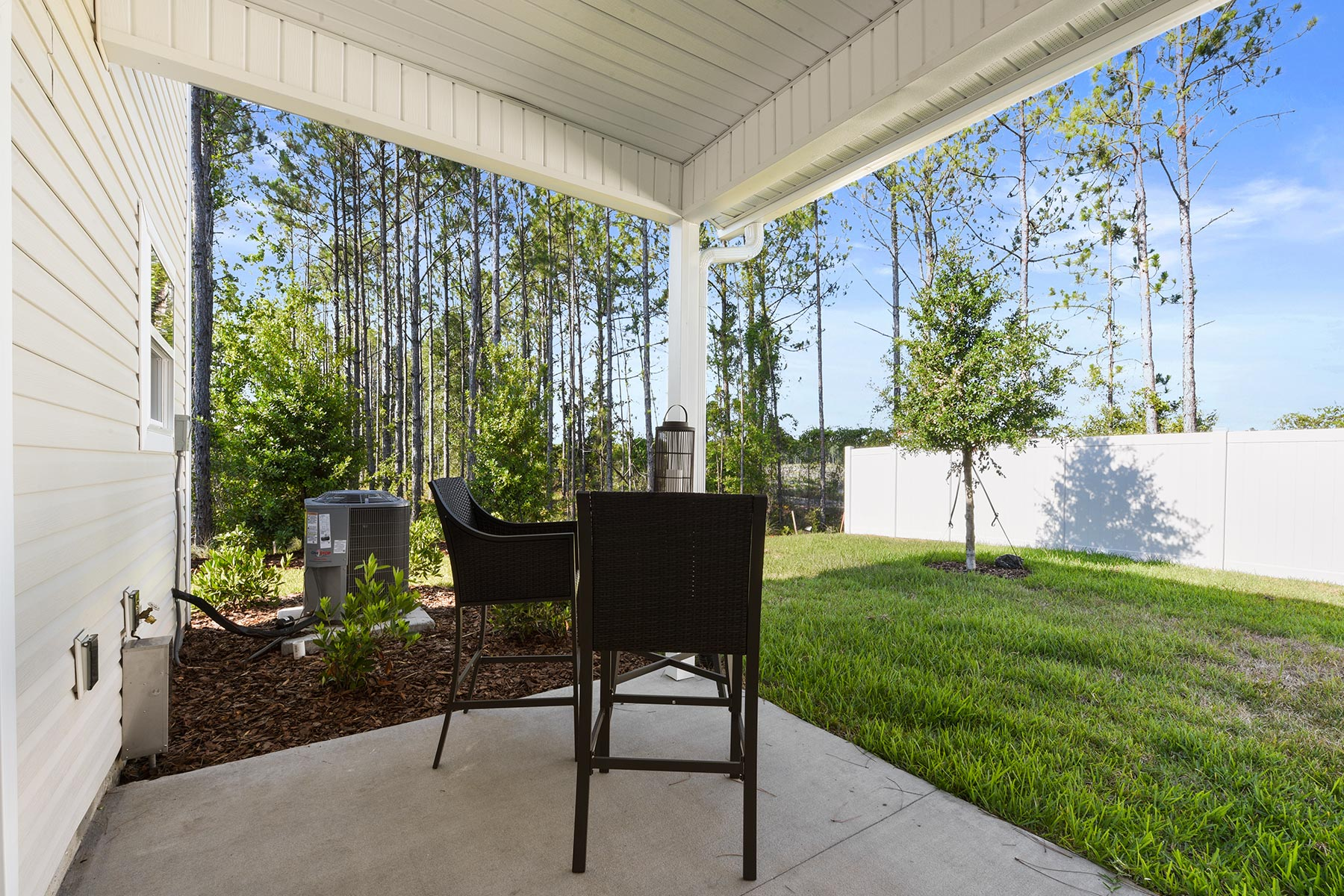 Spring Plan Patio at Wells Creek in Jacksonville Florida by Mattamy Homes