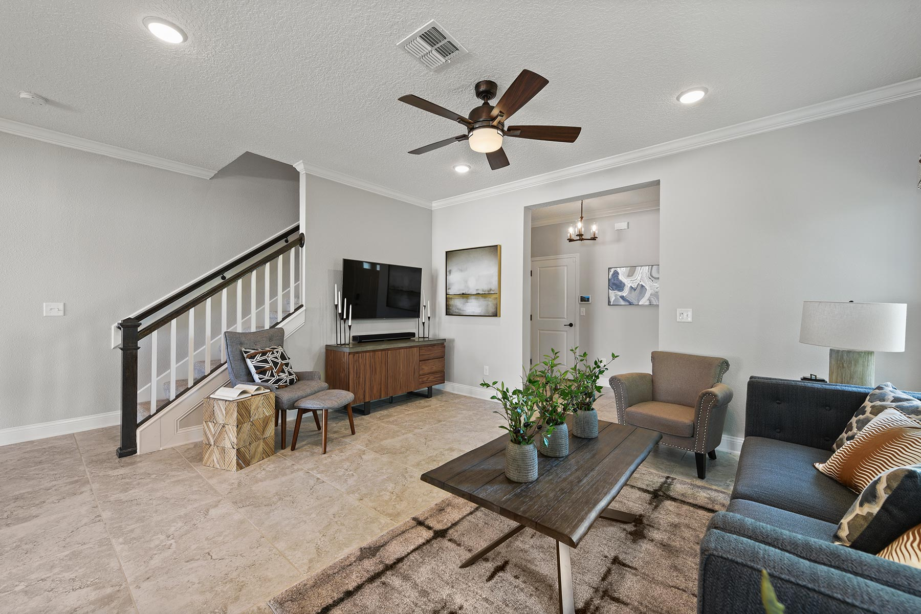 Spring Plan Greatroom at Wells Creek in Jacksonville Florida by Mattamy Homes