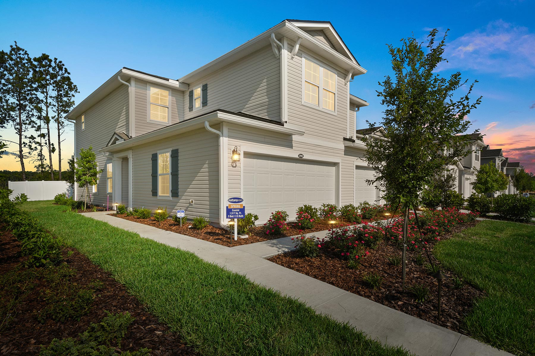 Spring Plan Elevation Front at Wells Creek in Jacksonville Florida by Mattamy Homes