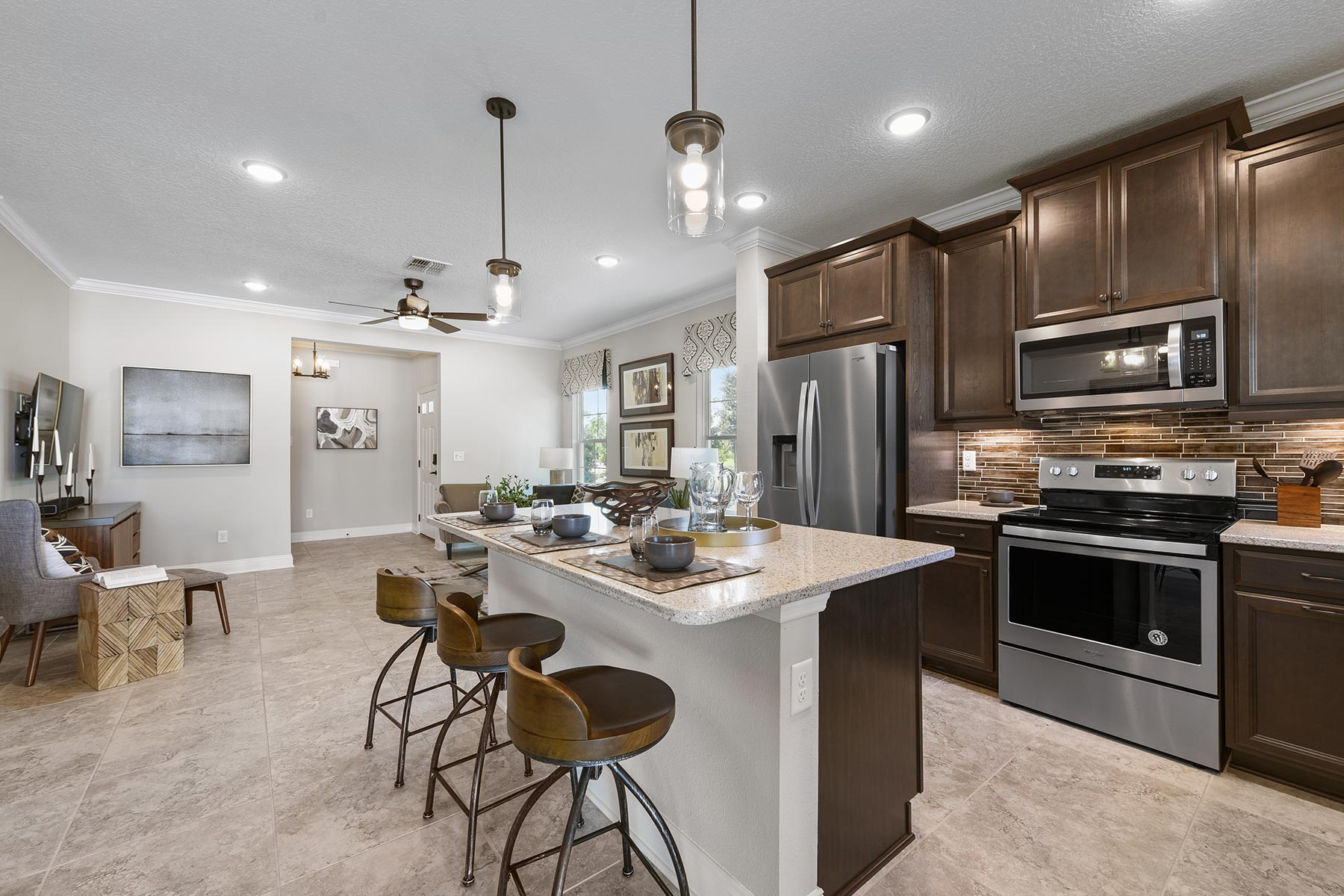 Spring Plan Kitchen at Wells Creek in Jacksonville Florida by Mattamy Homes