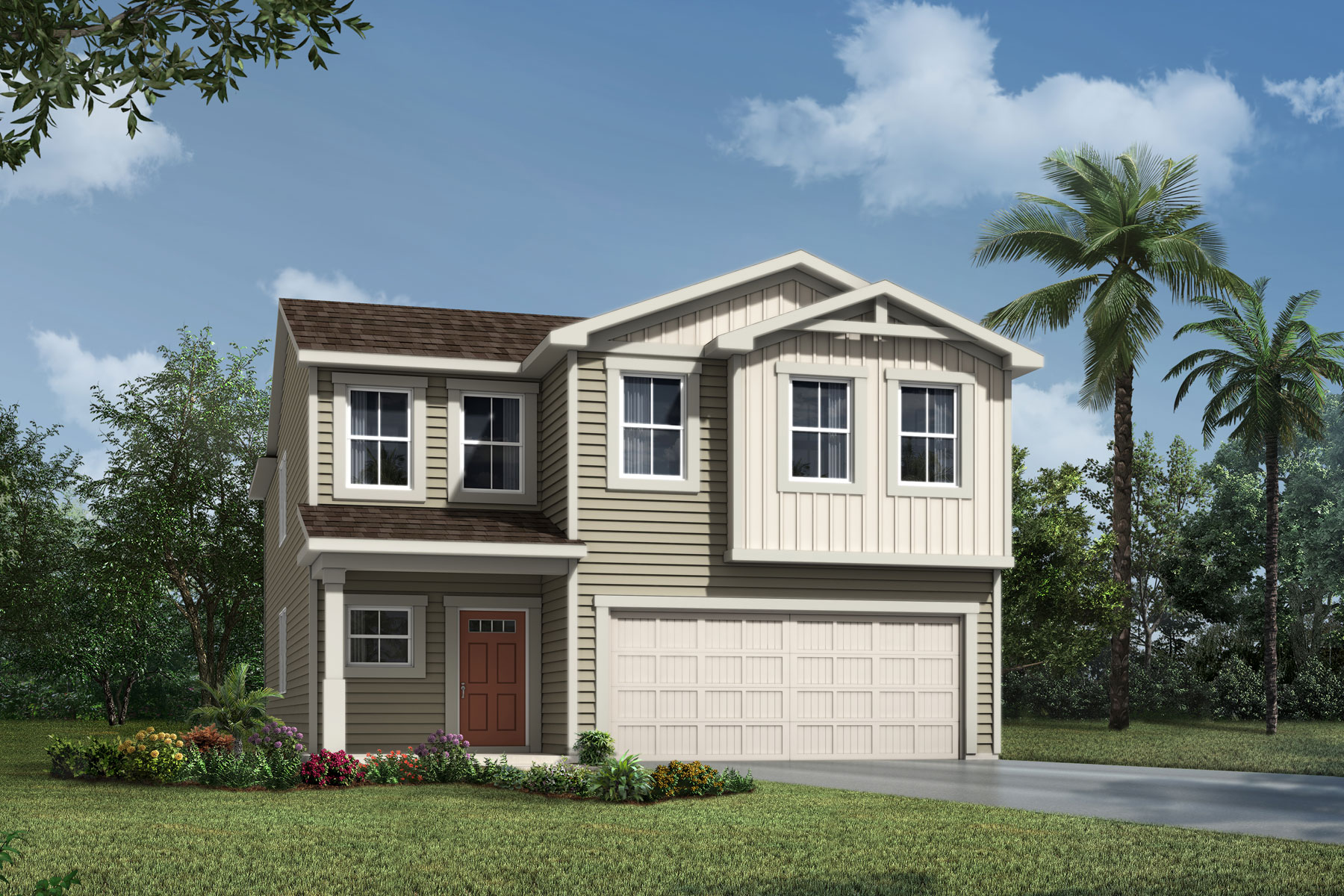 Whitney Plan Elevation Front at Wells Creek in Jacksonville Florida by Mattamy Homes