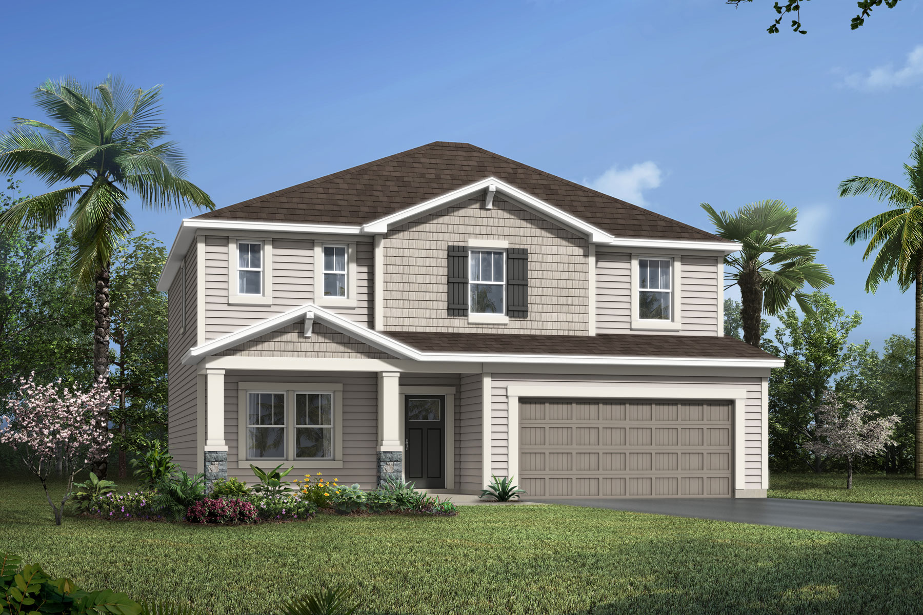 Willow Plan Elevation Front at Wells Creek in Jacksonville Florida by Mattamy Homes