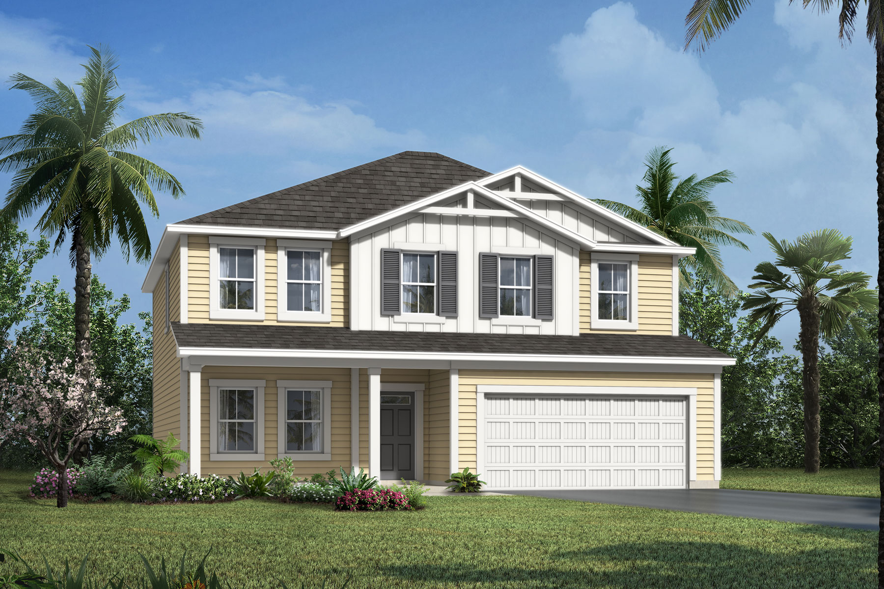 Willow Plan ElevationFarmhouse_WellsCreek_Willow at Wells Creek in Jacksonville Florida by Mattamy Homes