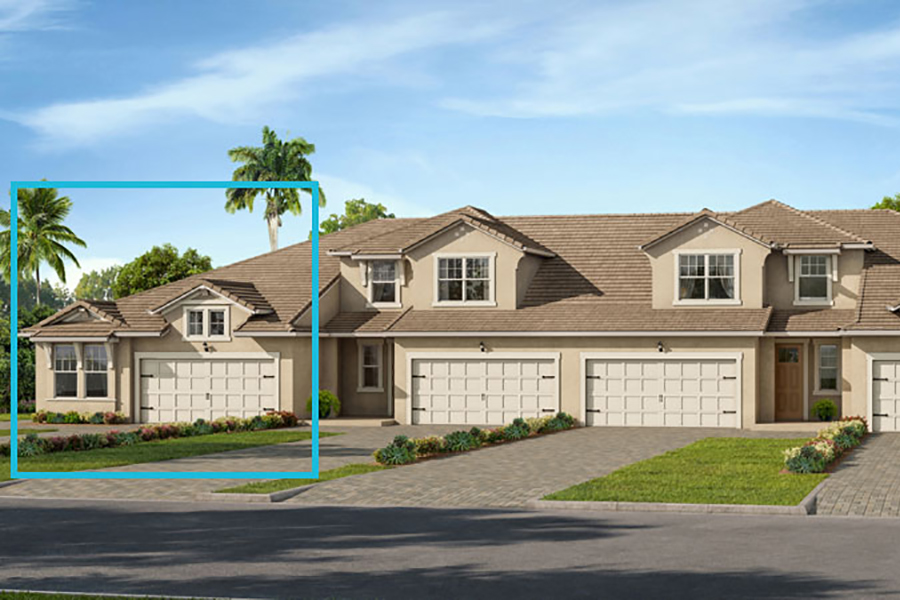 Captiva II Plan Elevation Front at Arboretum in Naples Florida by Mattamy Homes
