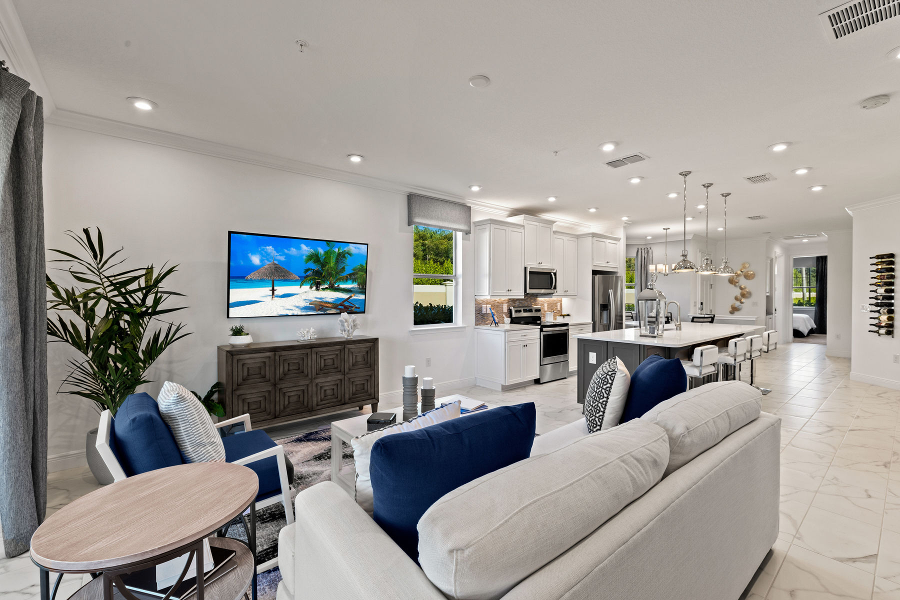 Captiva II Plan Greatroom at Arboretum in Naples Florida by Mattamy Homes