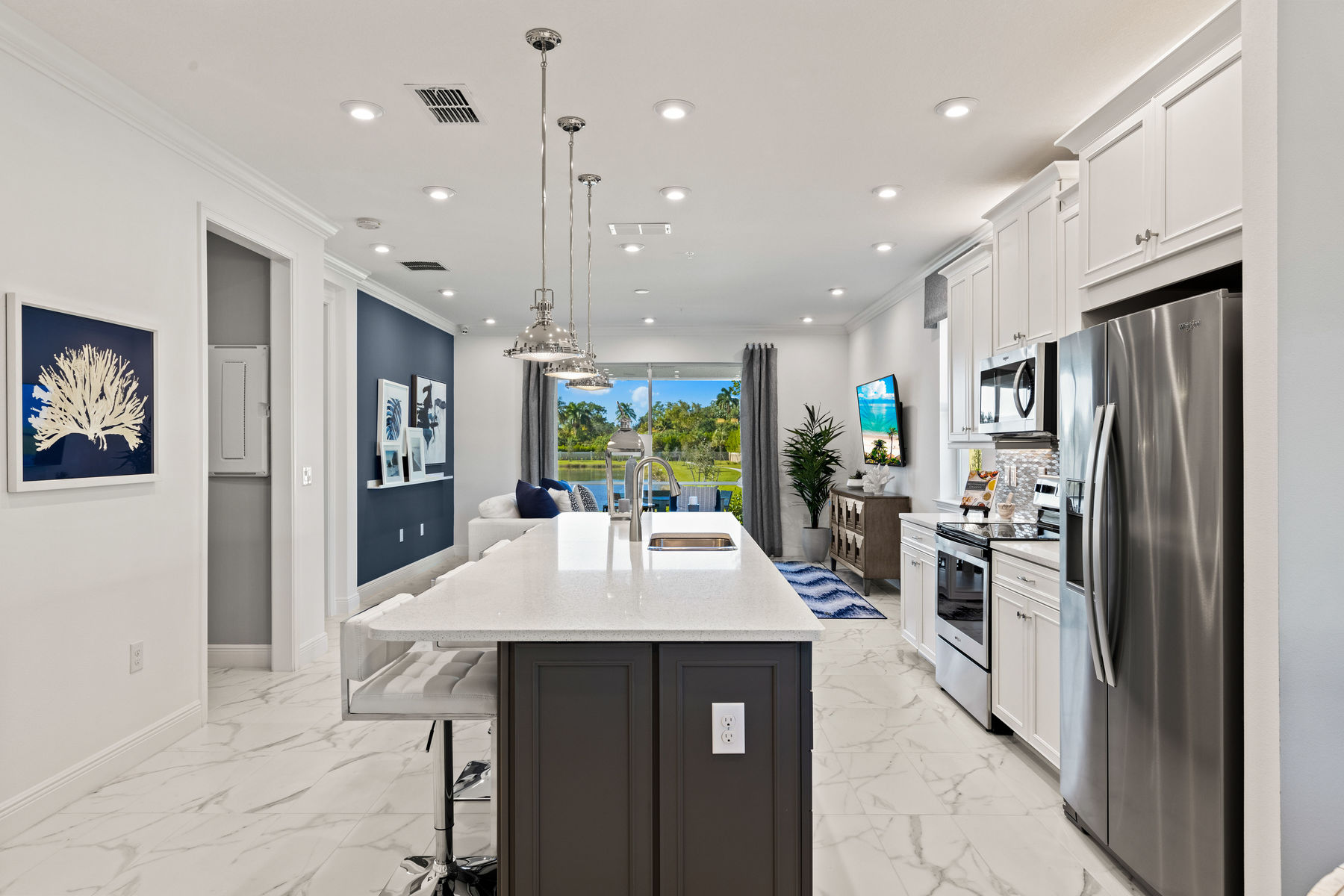 Captiva II Plan Kitchen at Arboretum in Naples Florida by Mattamy Homes
