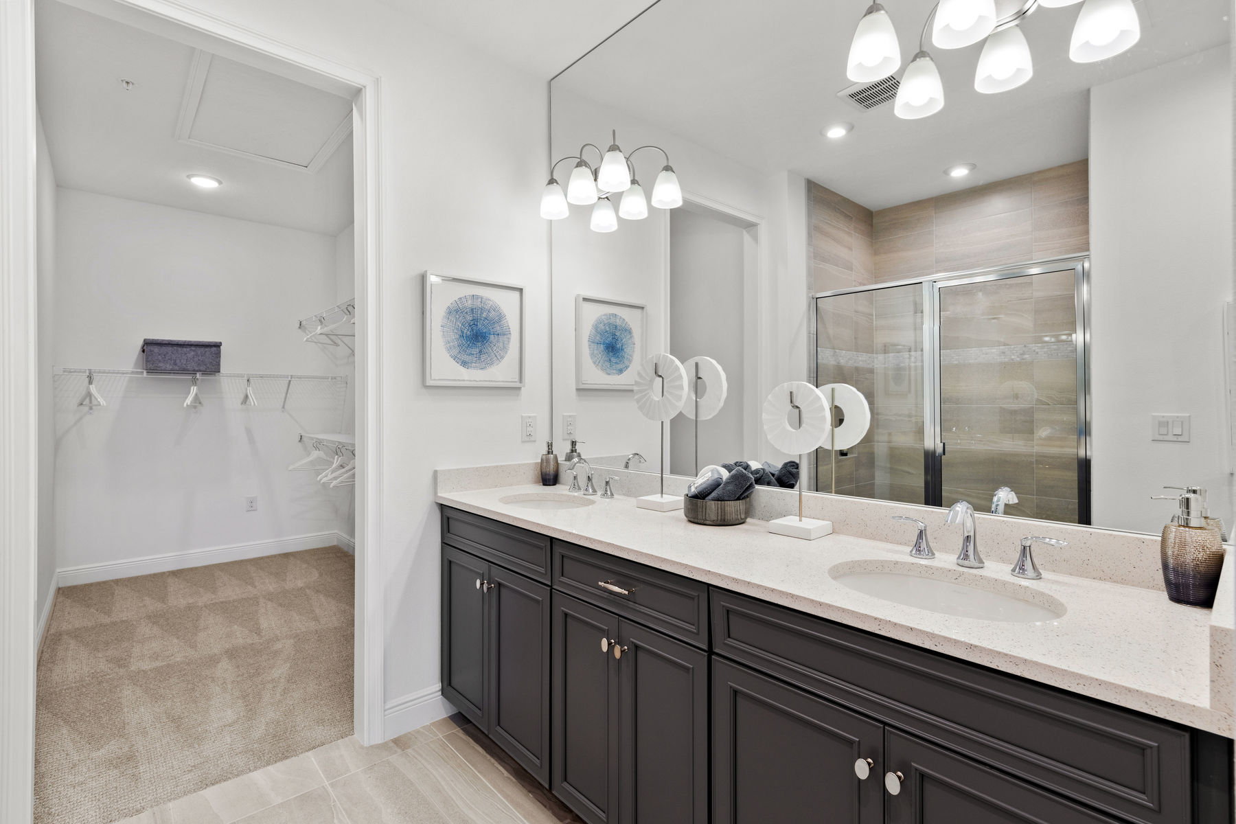 Captiva II Plan Bathroom_Master Bath at Arboretum in Naples Florida by Mattamy Homes