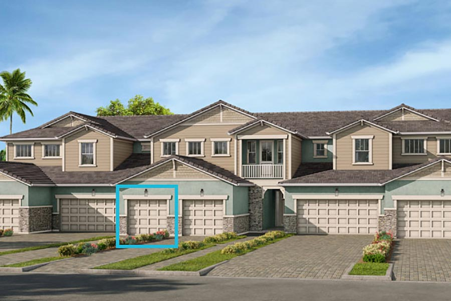 Delmar Plan TownHomes at Arboretum in Naples Florida by Mattamy Homes