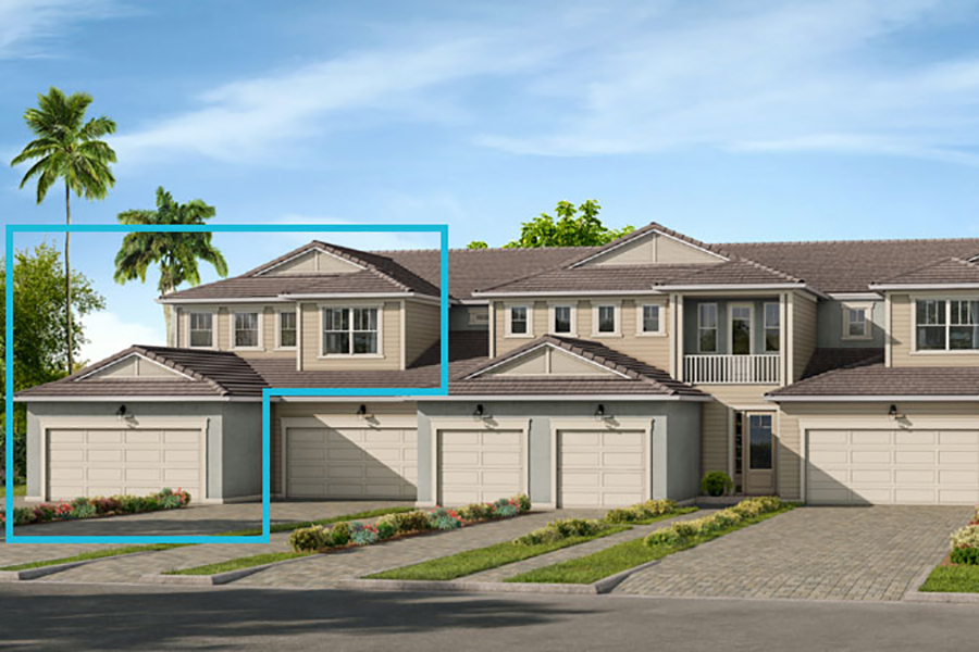 Oceangrove Plan TownHomes at Arboretum in Naples Florida by Mattamy Homes