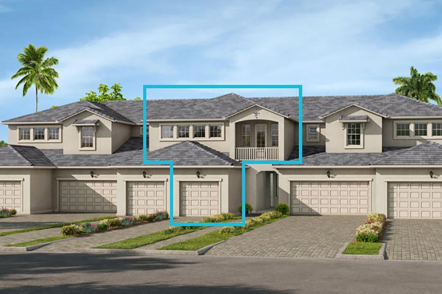 Seabright Plan TownHomes at Arboretum in Naples Florida by Mattamy Homes