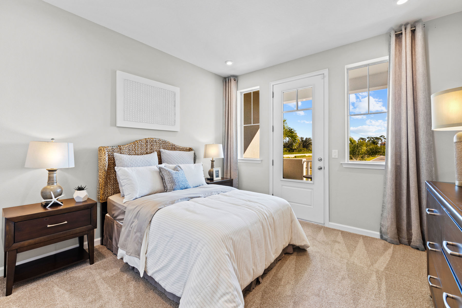 Seabright Plan Bedroom at Arboretum in Naples Florida by Mattamy Homes