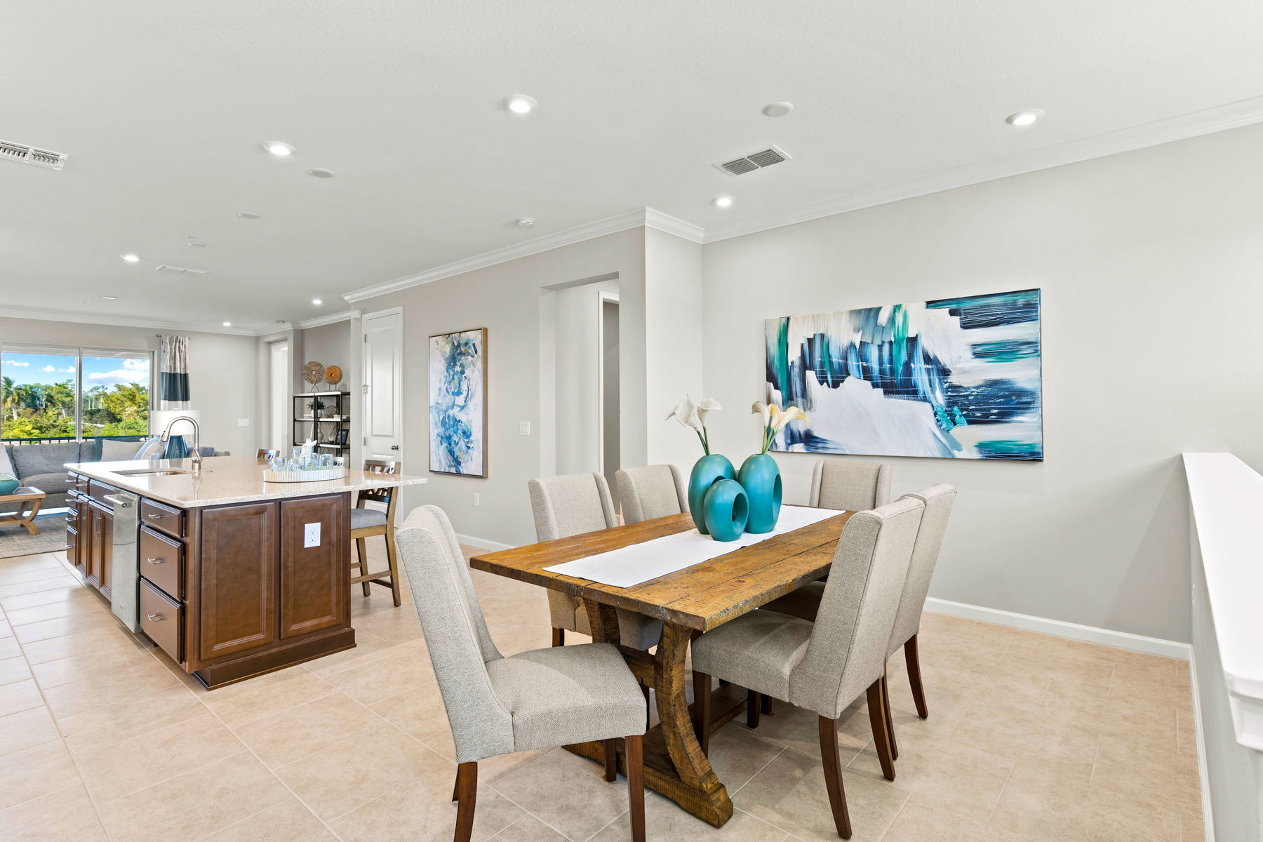 Seabright Plan Dining at Arboretum in Naples Florida by Mattamy Homes