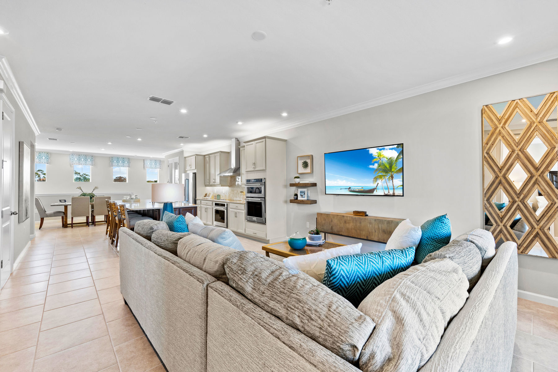 Seabright Plan Greatroom at Arboretum in Naples Florida by Mattamy Homes