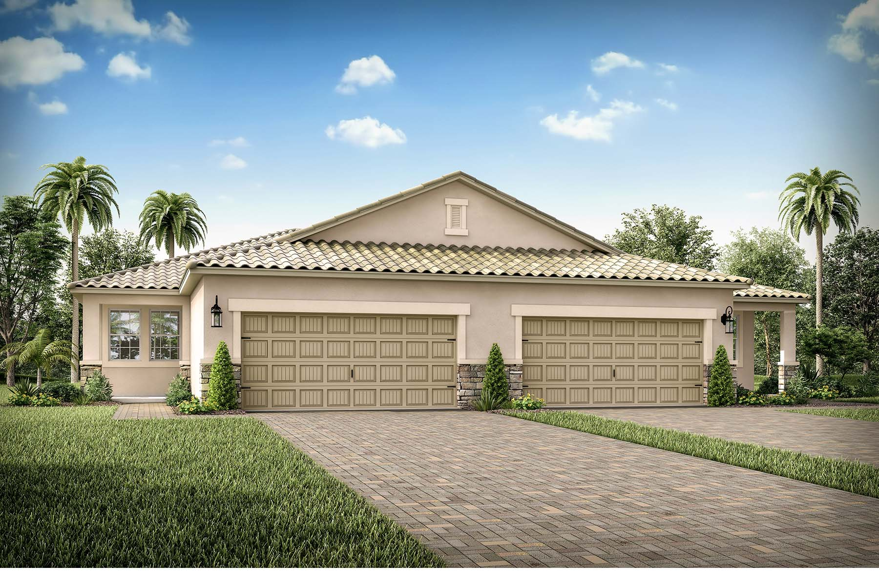 Largo Plan Elevation Front at Bonavie Cove in Fort Myers Florida by Mattamy Homes