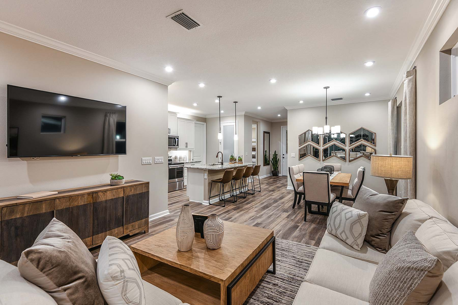 Largo Plan Greatroom at Bonavie Cove in Fort Myers Florida by Mattamy Homes