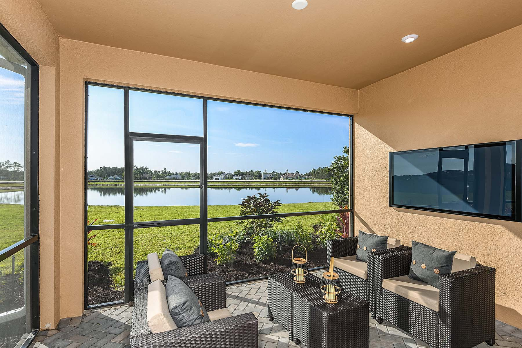Largo Plan Patio at Bonavie Cove in Fort Myers Florida by Mattamy Homes