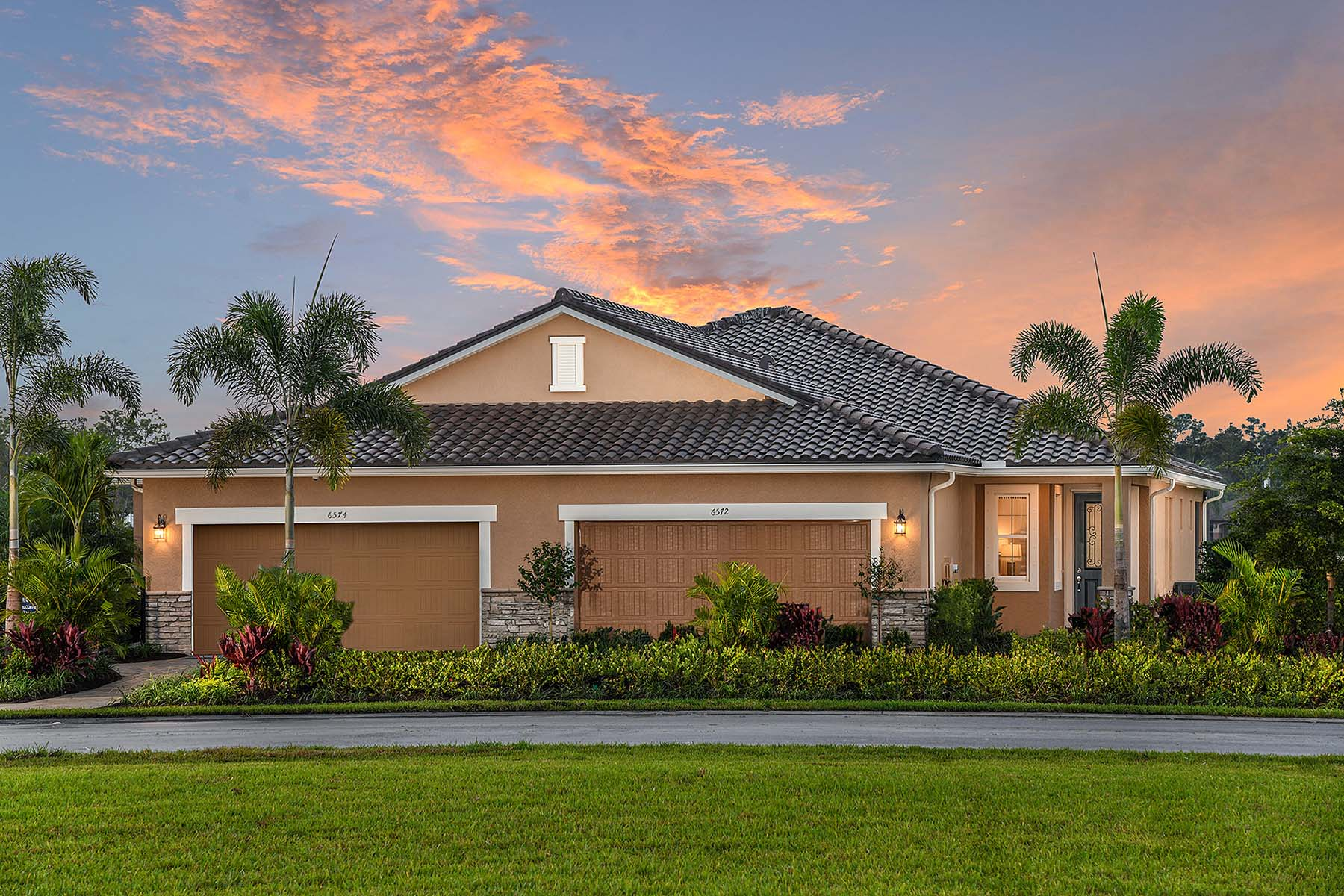 Oceana Plan Elevation Front at Bonavie Cove in Fort Myers Florida by Mattamy Homes
