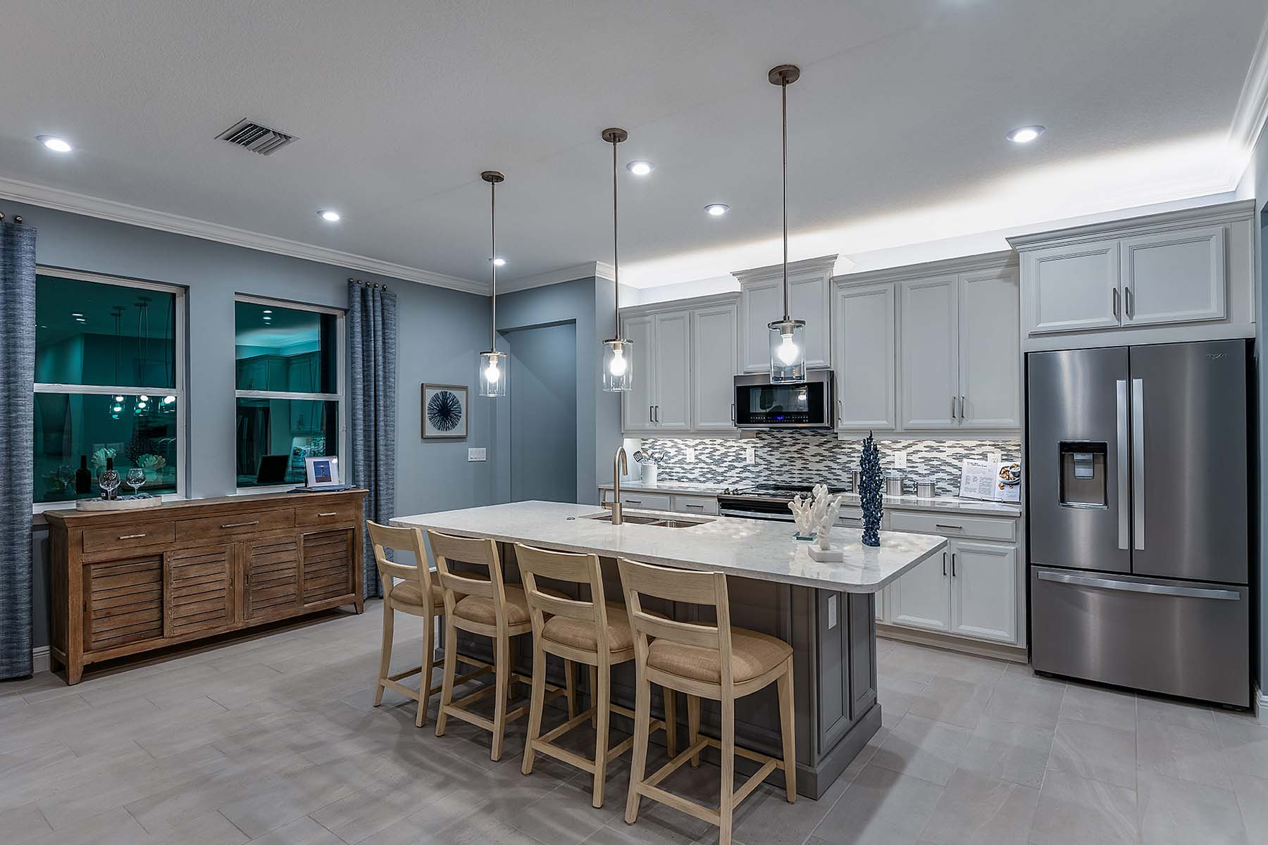 Oceana Plan Kitchen at Bonavie Cove in Fort Myers Florida by Mattamy Homes