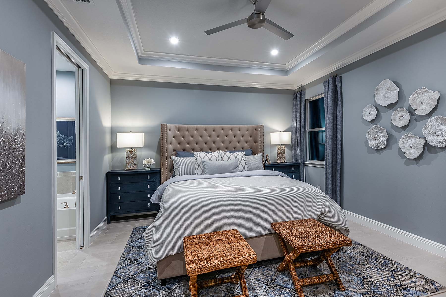 Oceana Plan Bedroom at Bonavie Cove in Fort Myers Florida by Mattamy Homes