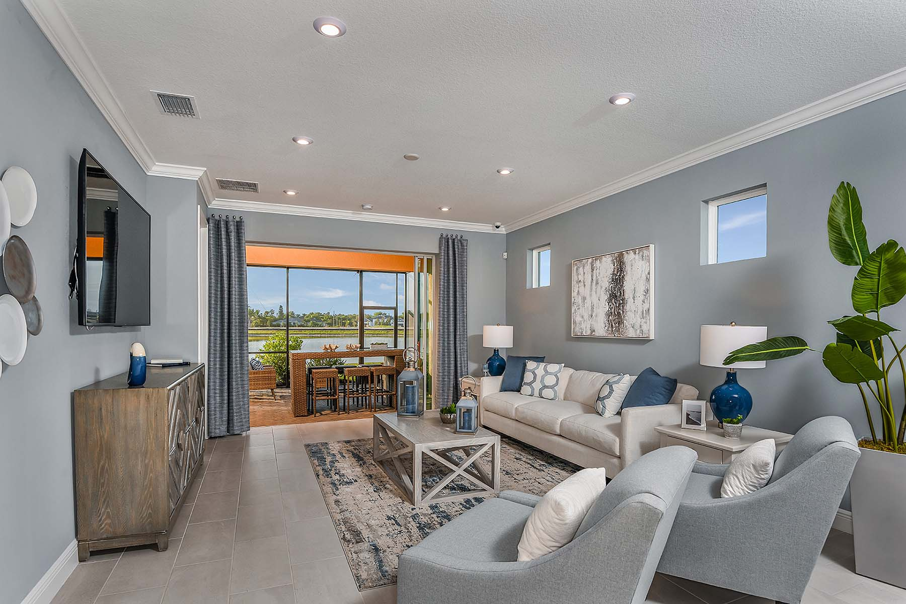 Oceana Plan Greatroom at Bonavie Cove in Fort Myers Florida by Mattamy Homes