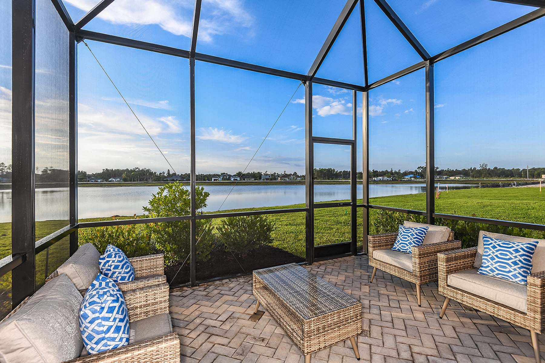 Oceana Plan Patio at Bonavie Cove in Fort Myers Florida by Mattamy Homes