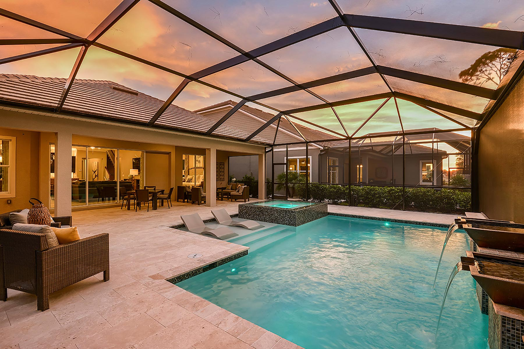 Compass Landing Patio in Naples Florida by Mattamy Homes