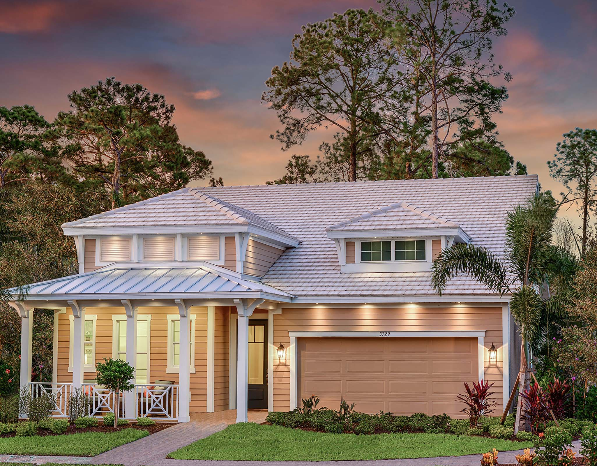 Compass Landing Elevation Front in Naples Florida by Mattamy Homes