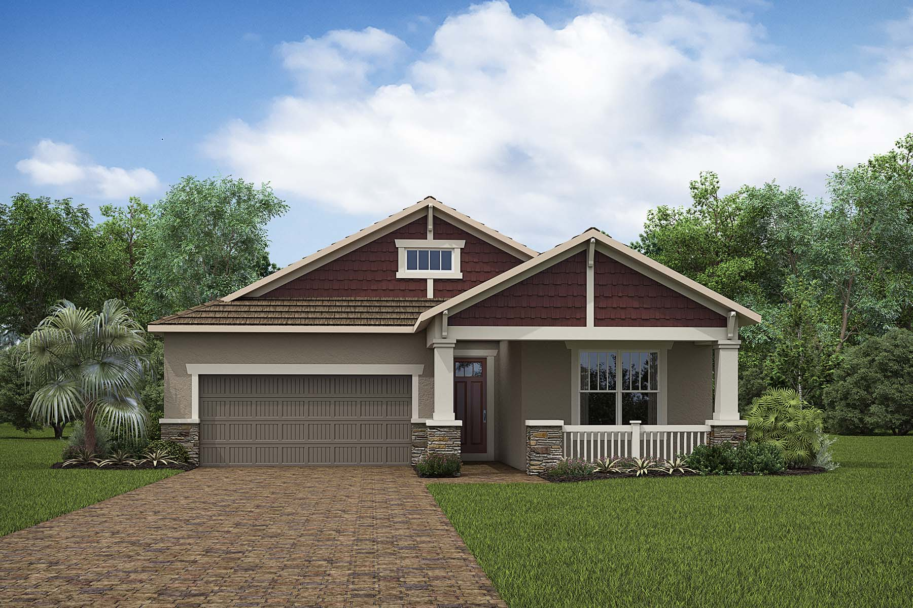 Admiral Plan Elevation Front at Compass Landing in Naples Florida by Mattamy Homes