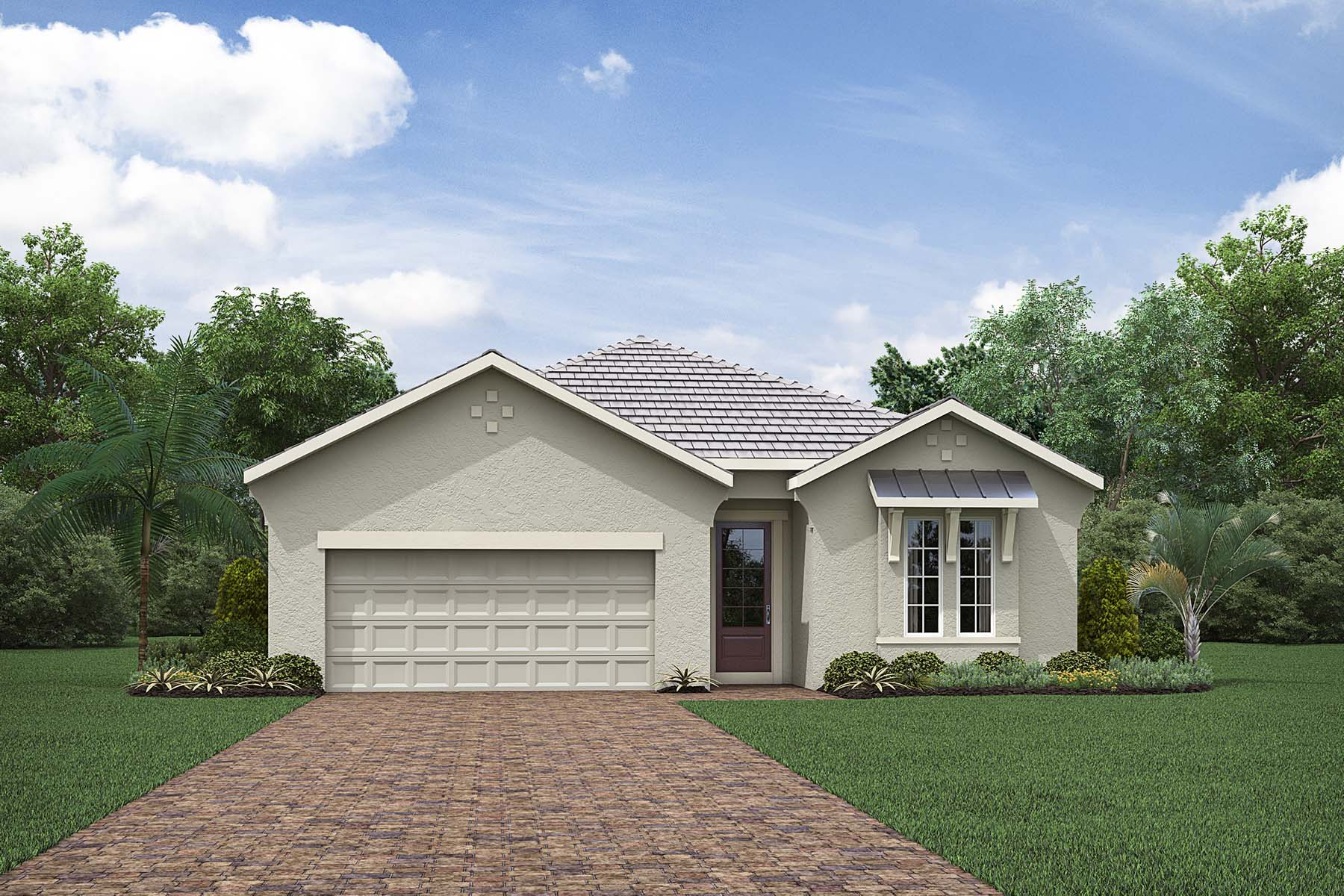 Alee Plan Elevation Front at Compass Landing in Naples Florida by Mattamy Homes