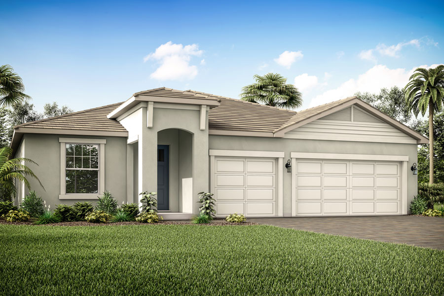 Augustine III Plan Elevation Front at Compass Landing in Naples Florida by Mattamy Homes