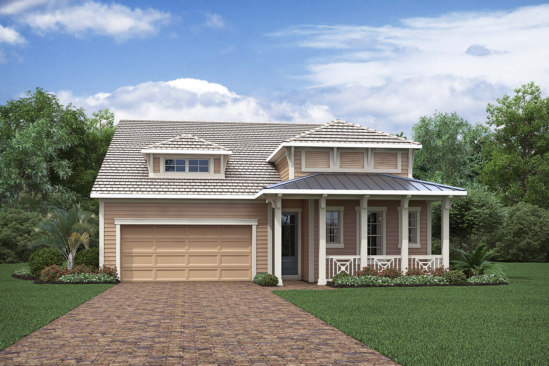 Banyan Plan Elevation Front at Compass Landing in Naples Florida by Mattamy Homes