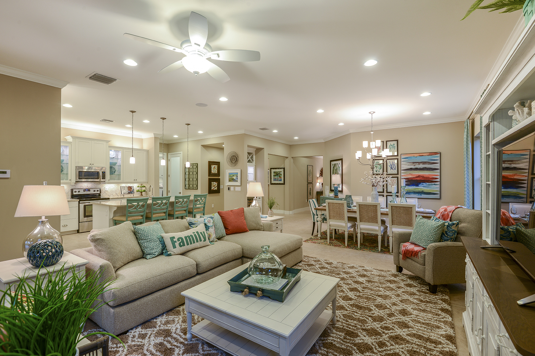 Banyan Plan Greatroom at Compass Landing in Naples Florida by Mattamy Homes