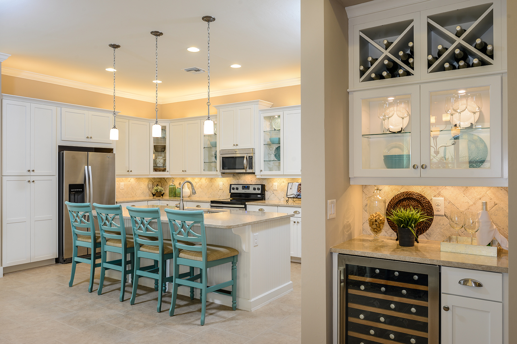 Banyan Plan Kitchen at Compass Landing in Naples Florida by Mattamy Homes