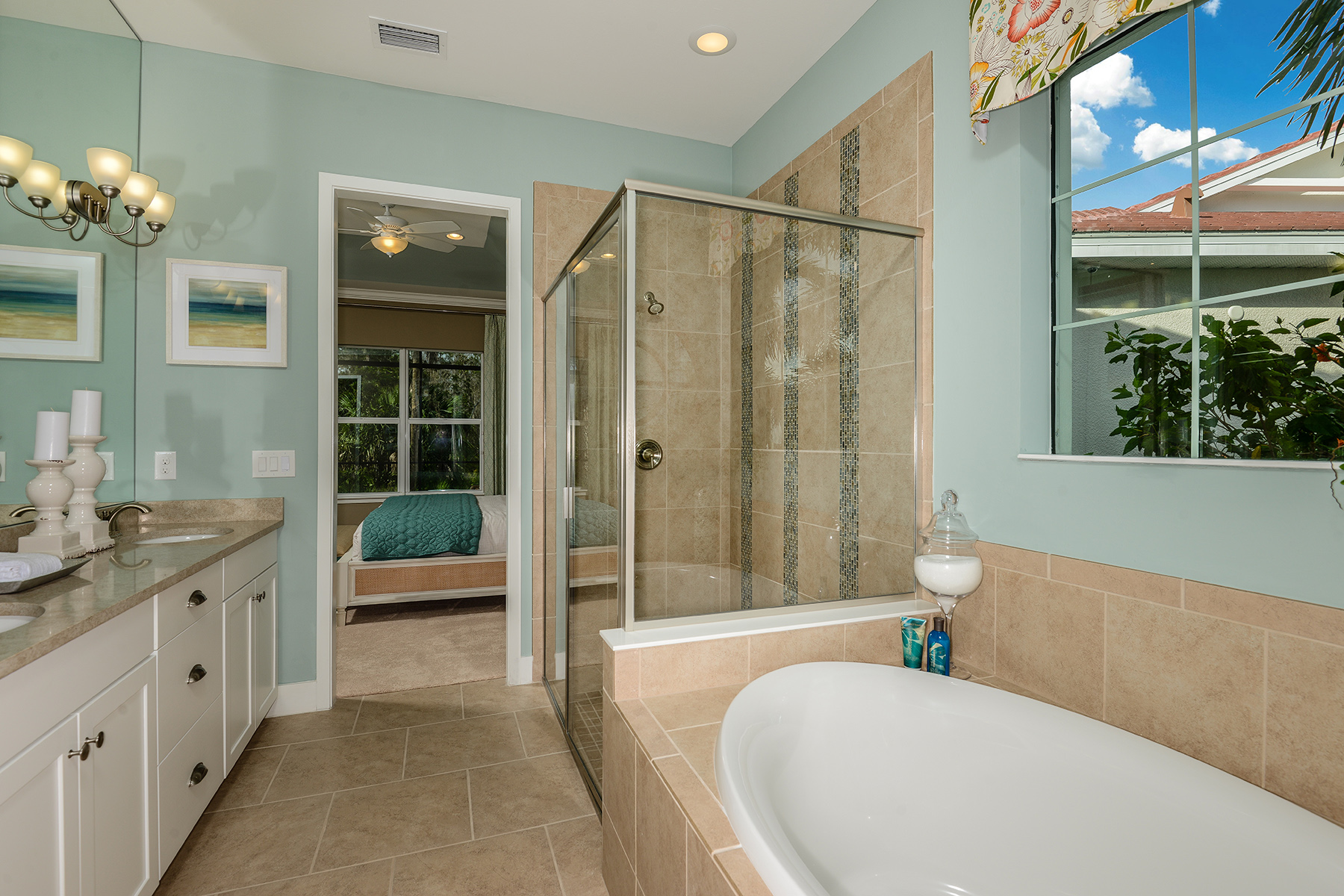 Banyan Plan Bathroom_Master Bath at Compass Landing in Naples Florida by Mattamy Homes