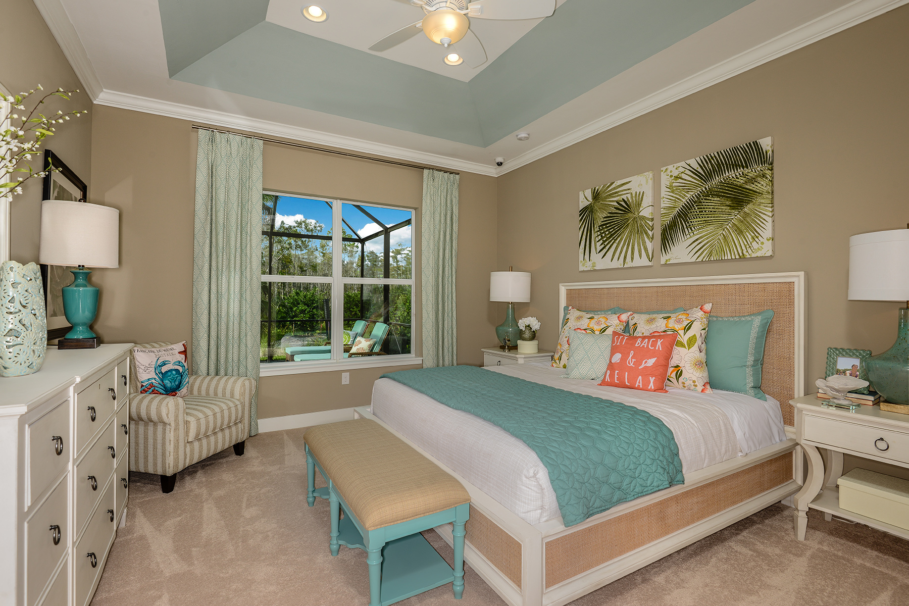 Banyan Plan Bedroom at Compass Landing in Naples Florida by Mattamy Homes