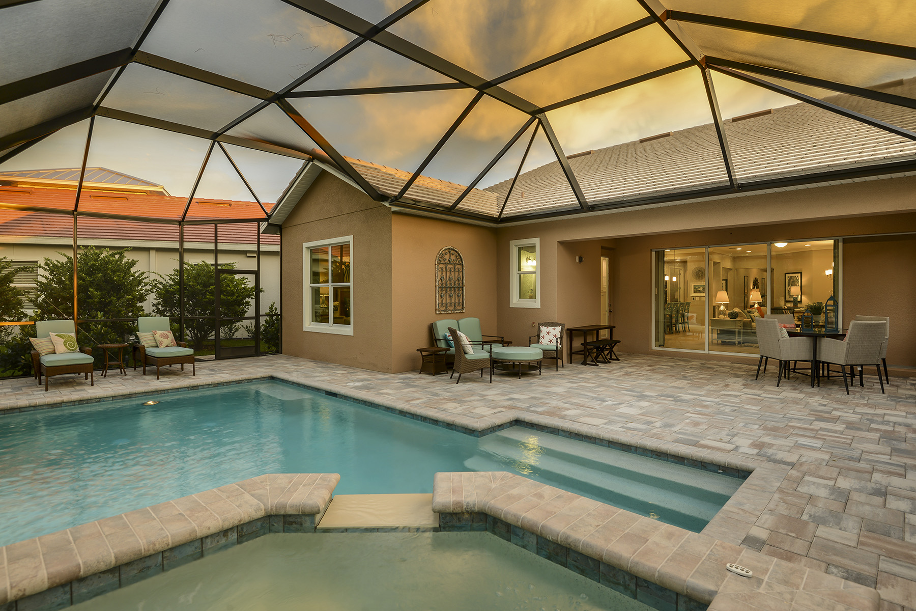Compass Landing House Backyard in Naples Florida by Mattamy Homes