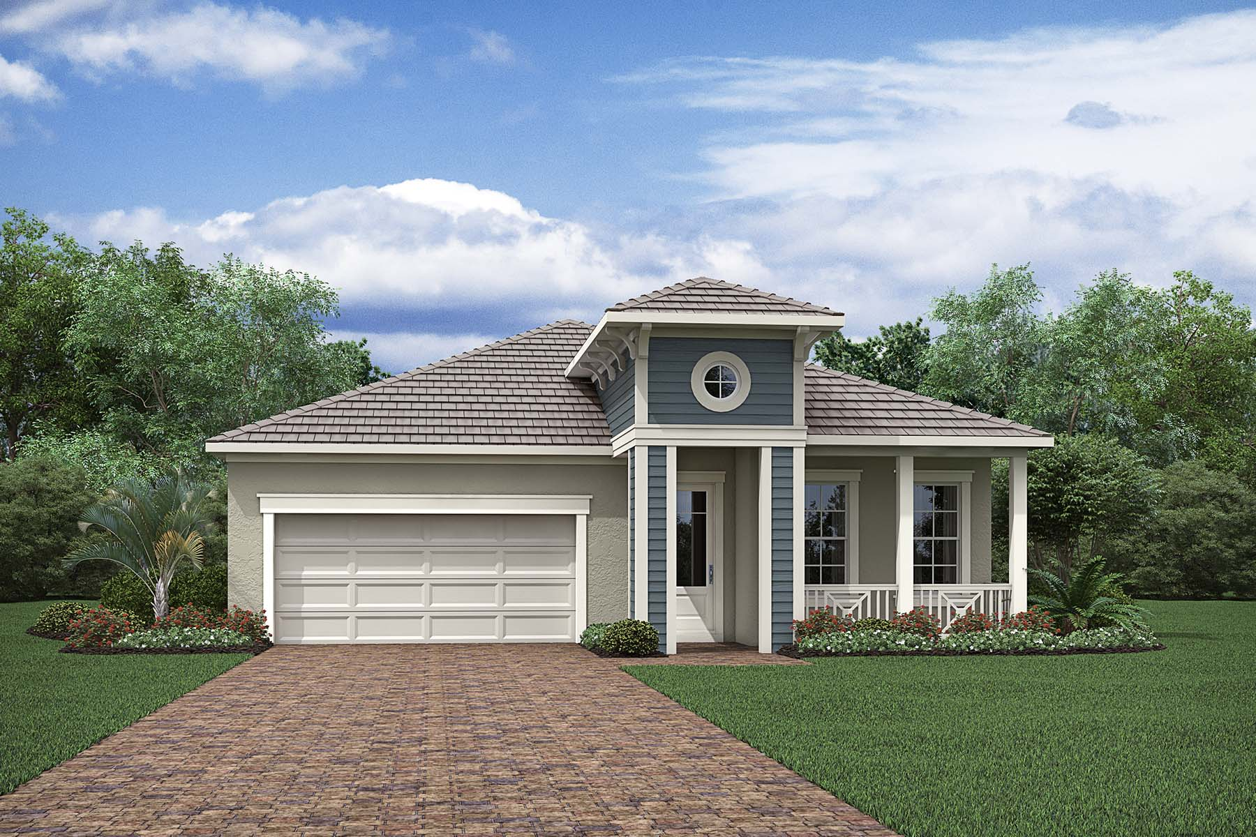 Capstan Plan Elevation Front at Compass Landing in Naples Florida by Mattamy Homes