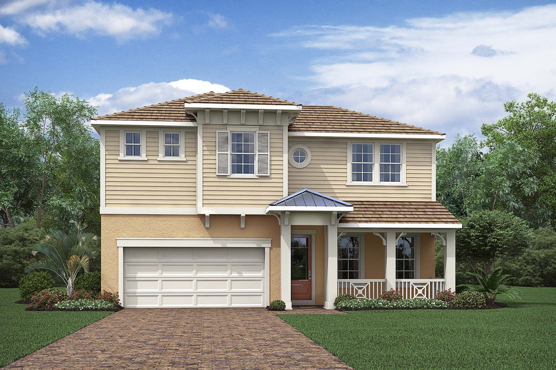Commodore Plan Elevation Front at Compass Landing in Naples Florida by Mattamy Homes