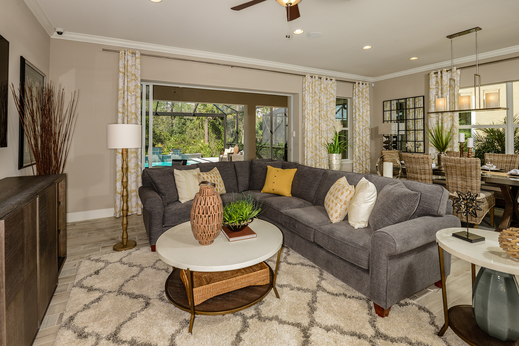 Compass Landing Greatroom in Naples Florida by Mattamy Homes