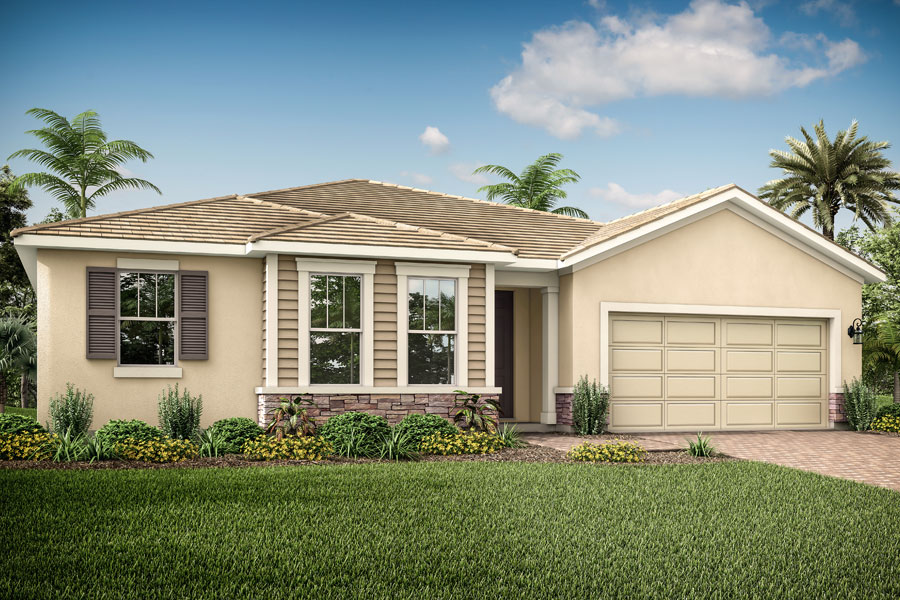 Coquina II Plan Elevation Front at Compass Landing in Naples Florida by Mattamy Homes