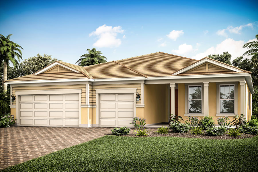 Jubilee II Plan Elevation Front at Compass Landing in Naples Florida by Mattamy Homes