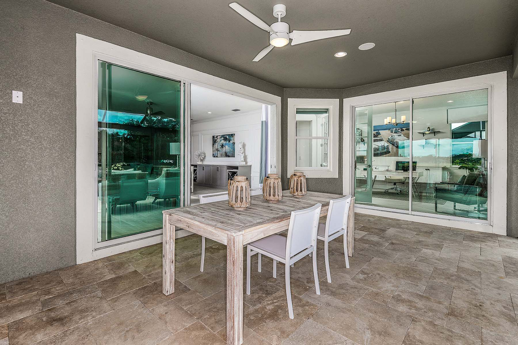 Jubilee II Plan Patio at Compass Landing in Naples Florida by Mattamy Homes