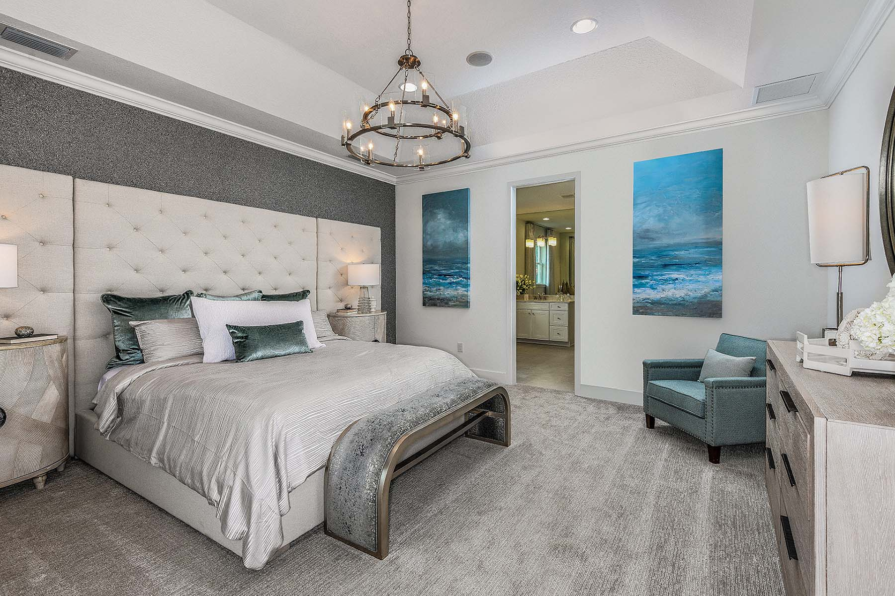 Jubilee II Plan Bedroom at Compass Landing in Naples Florida by Mattamy Homes