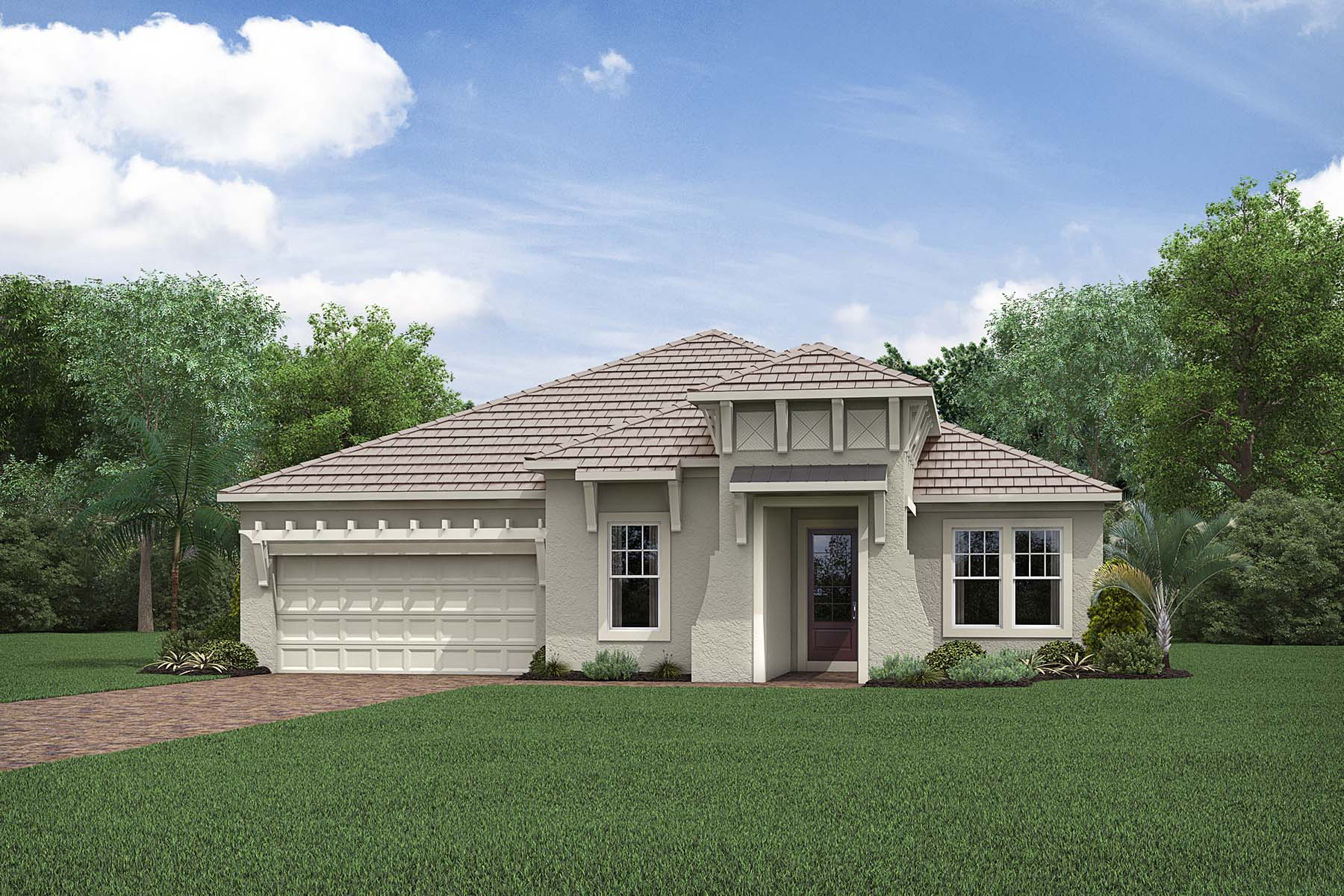 Pennant Plan Elevation Front at Compass Landing in Naples Florida by Mattamy Homes