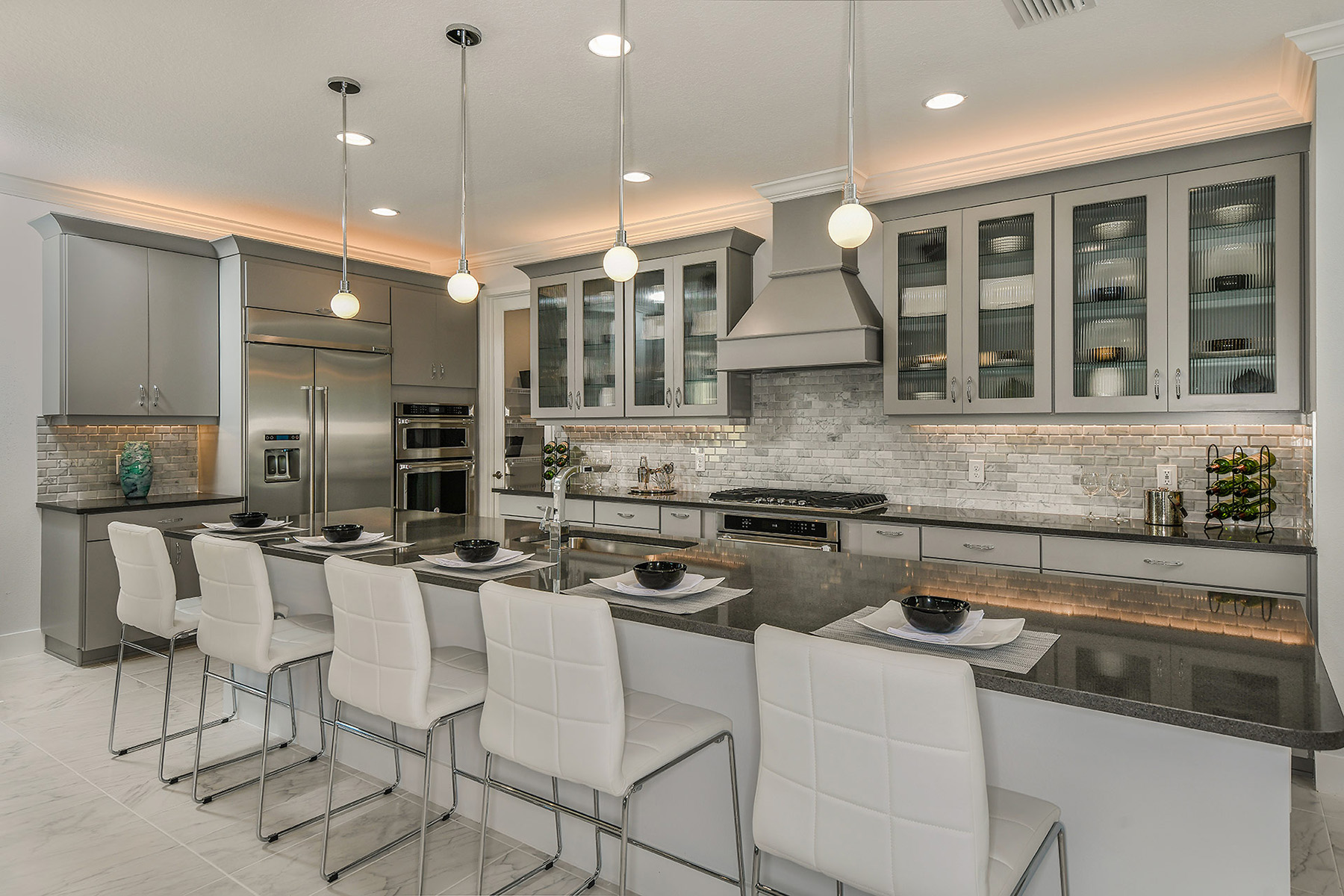 Alee Plan Kitchen at Compass Landing in Naples Florida by Mattamy Homes